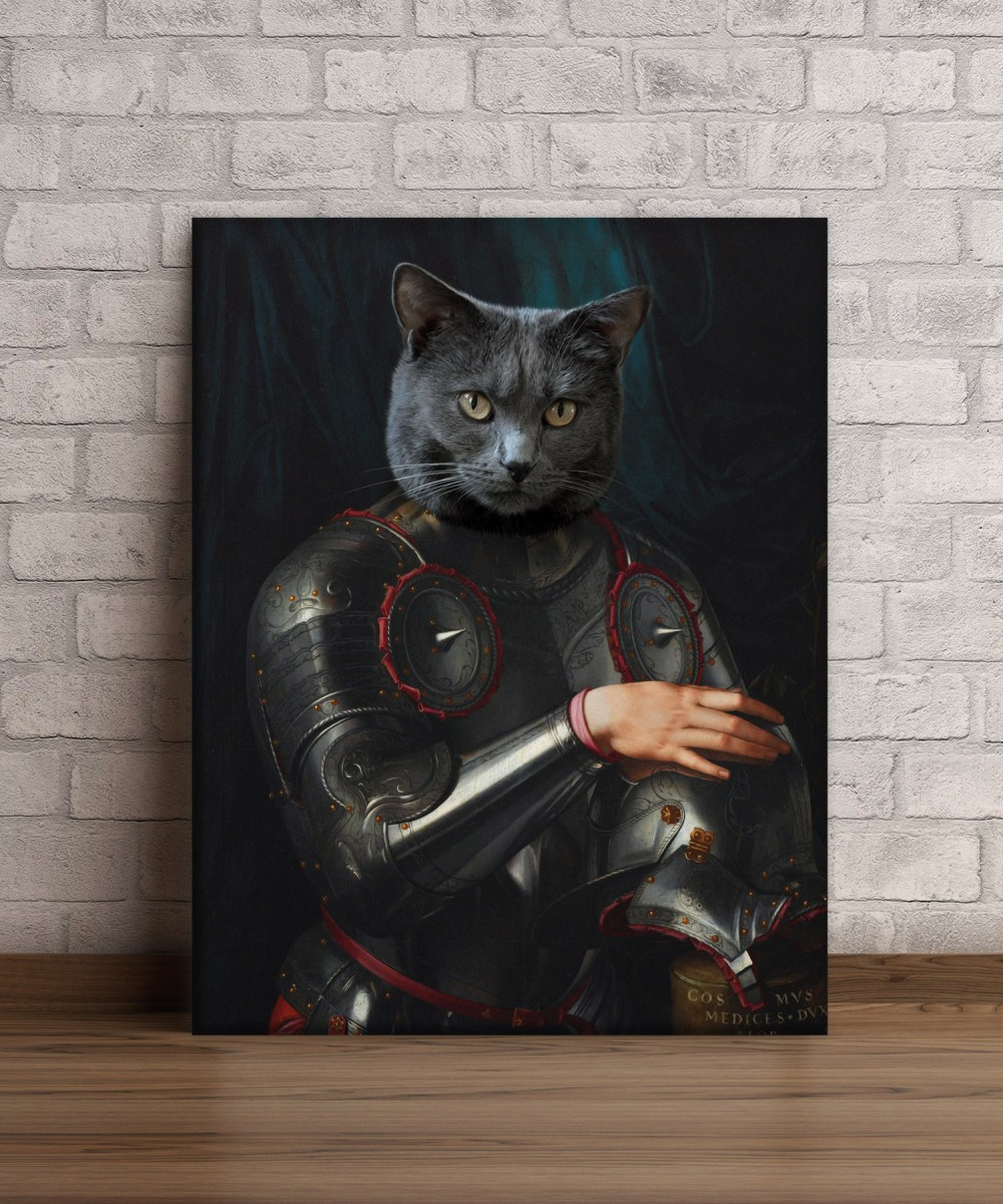 Tablou canvas personalizat Cosimo de Medici in Armour