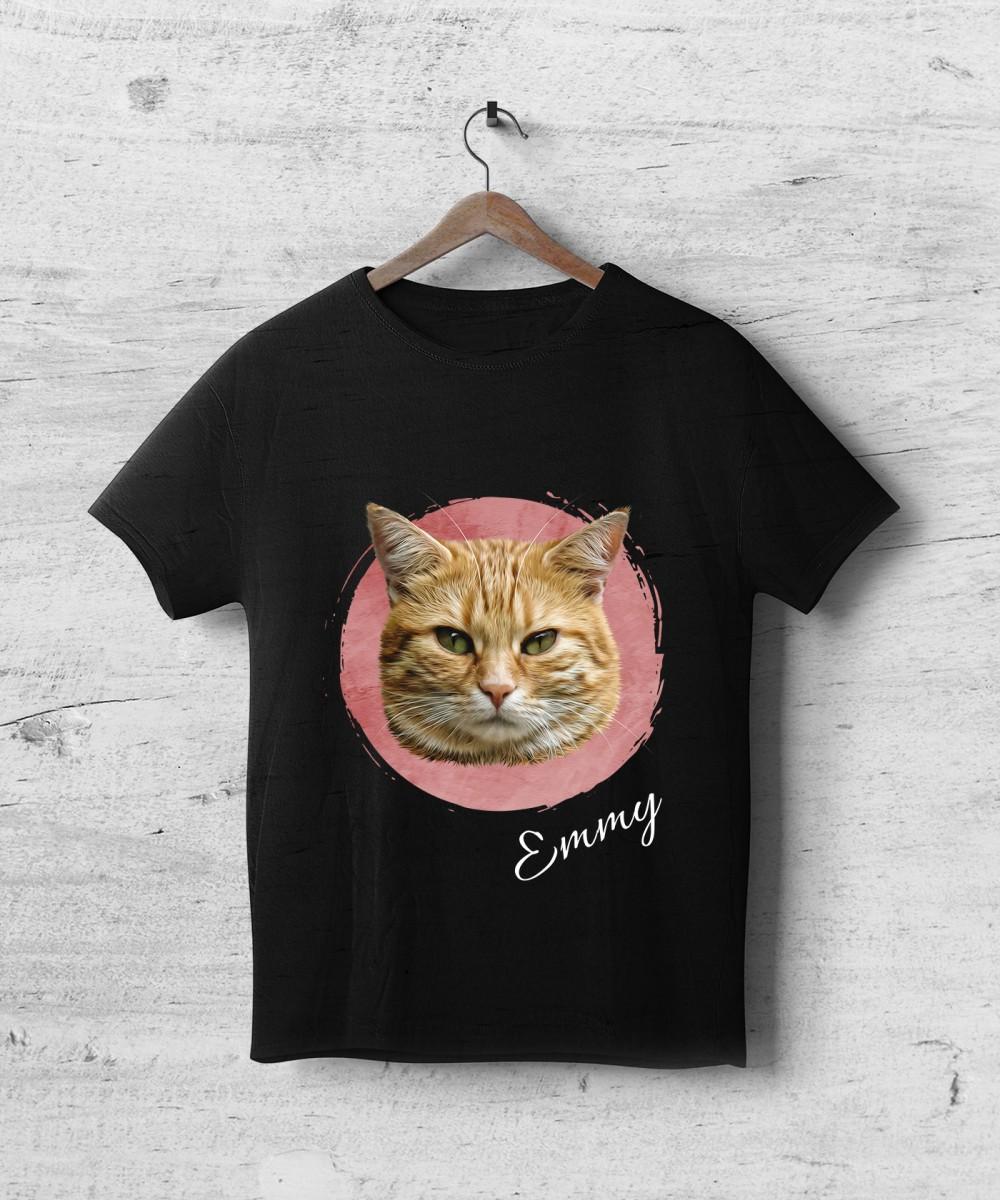 Tricou negru personalizat